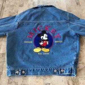 Disney Mickey Mouse embroiderjean jacket Medium